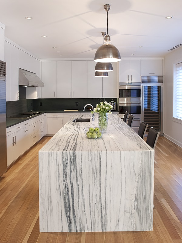 marble kitchen island 36 Marbled Countertops To Ignite Your Kitchen Revamp