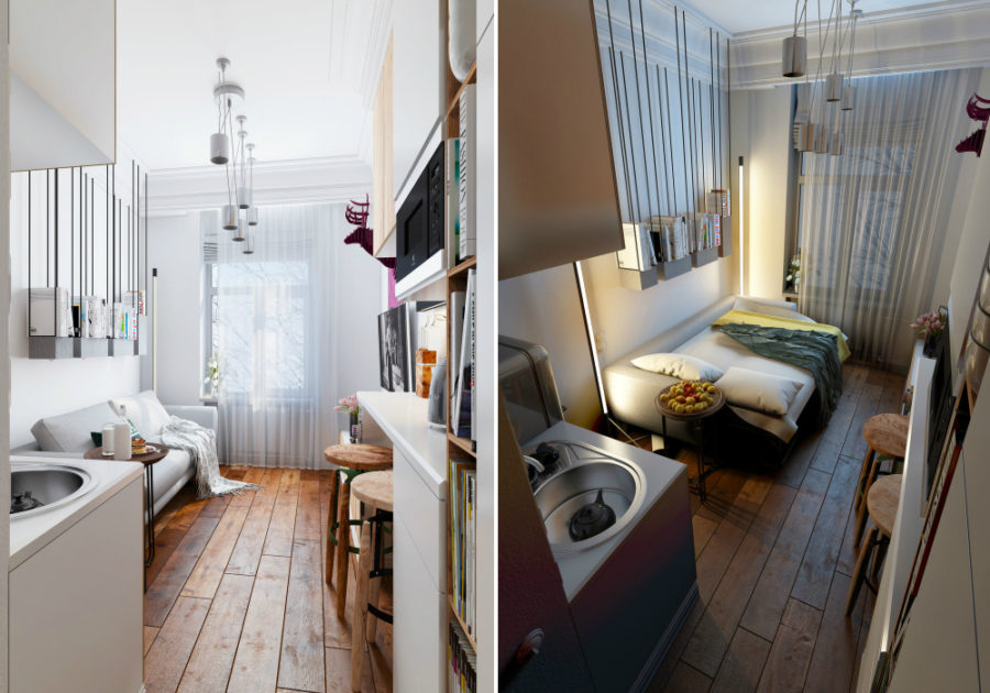 24 micro apartments under 30 square meters for 8 sqm room design