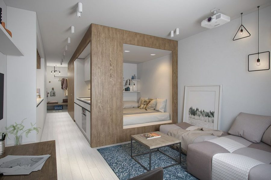 24 micro apartments under 30 square meters for Living room 10 square meters