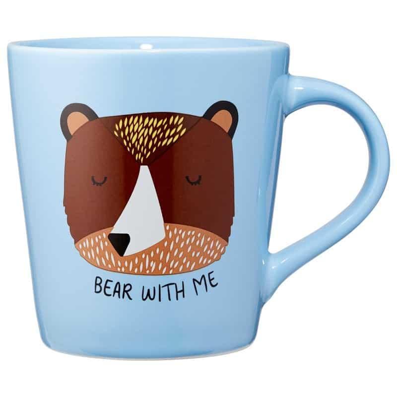 Bear with me blue mug