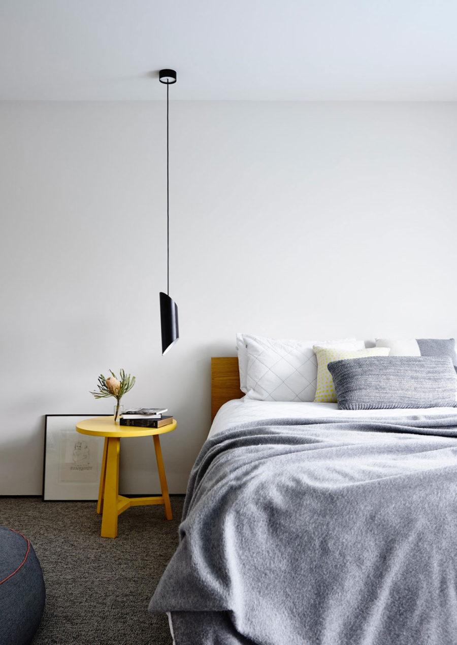 Bedroom is minimal