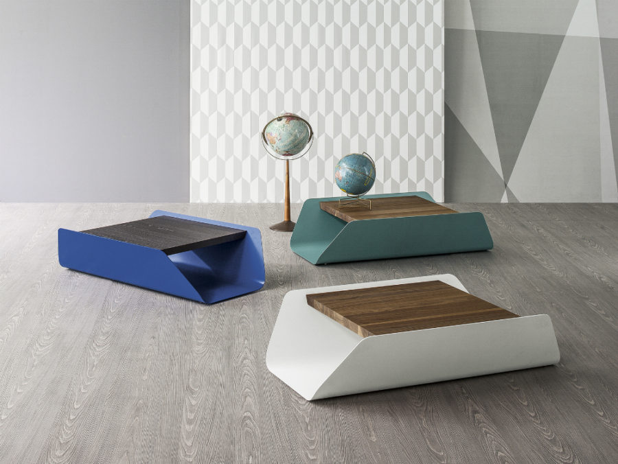 Bend table by Mauro Lipparini