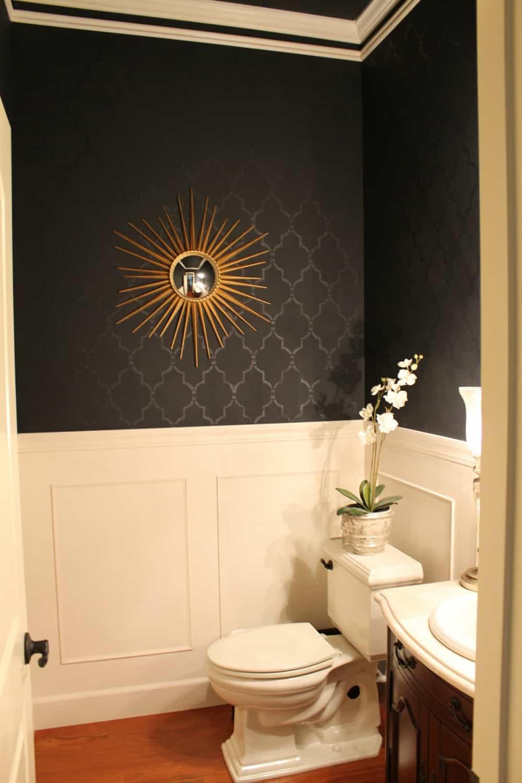 Black powder room