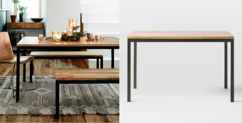 Box frame dining table