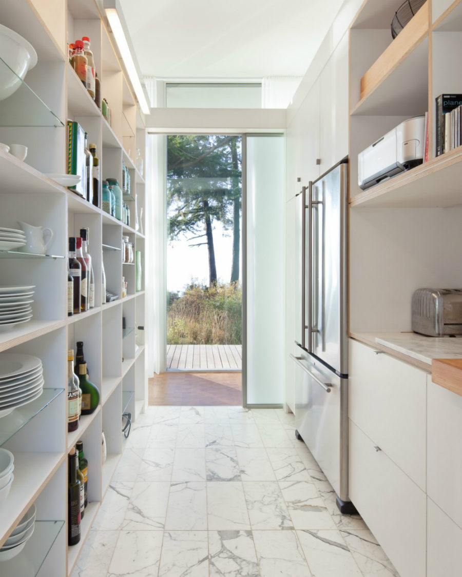 Breezy kitchen and pantry