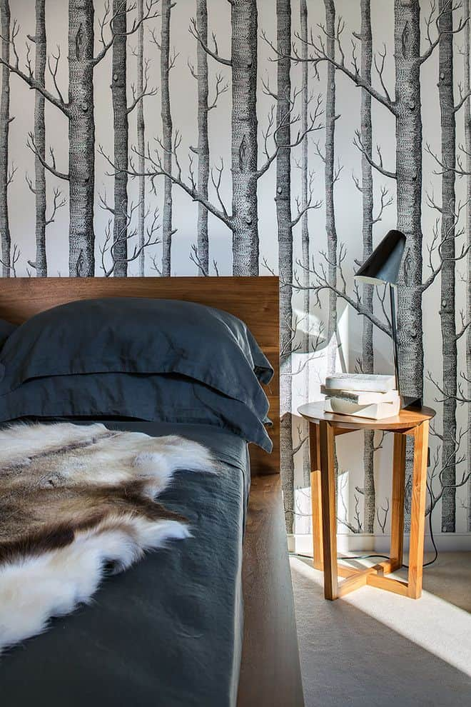 Bring the outdoors inside through wallpaper