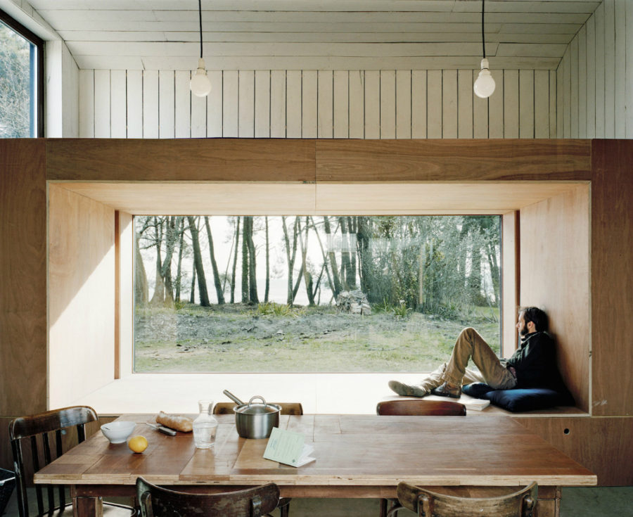 Cabin window frame seat