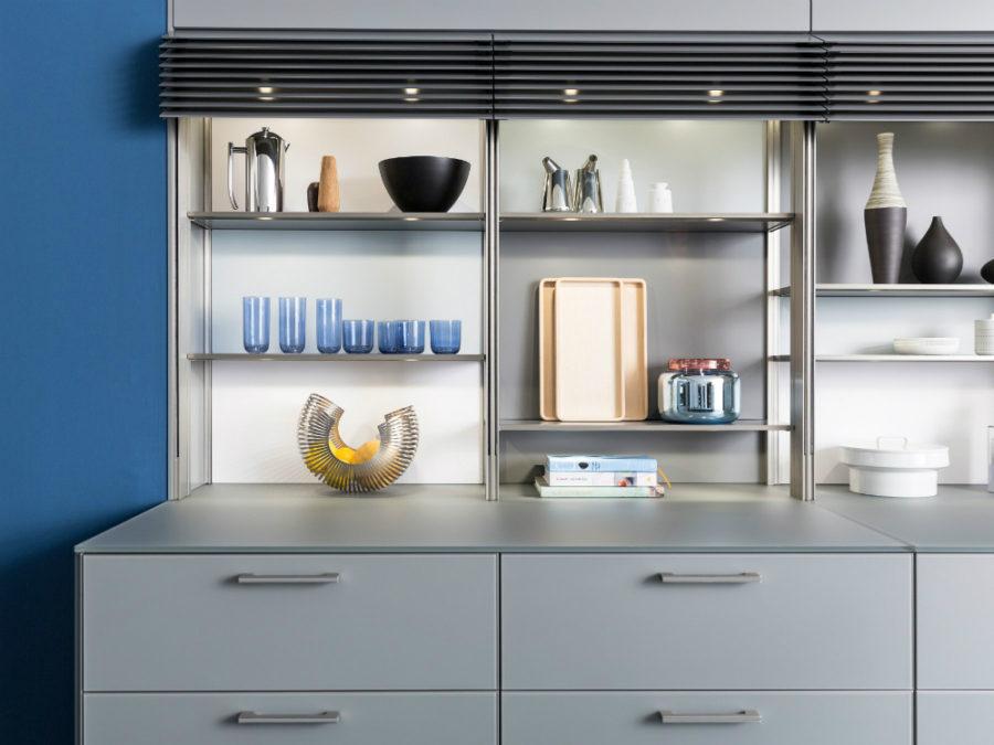 Cabinet display shelves