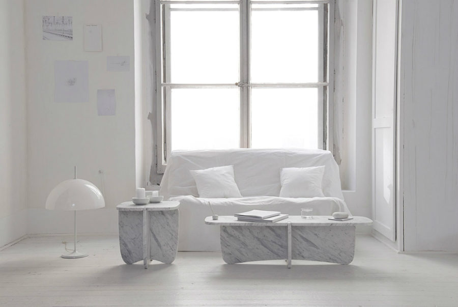 Carrara marble coffee tables