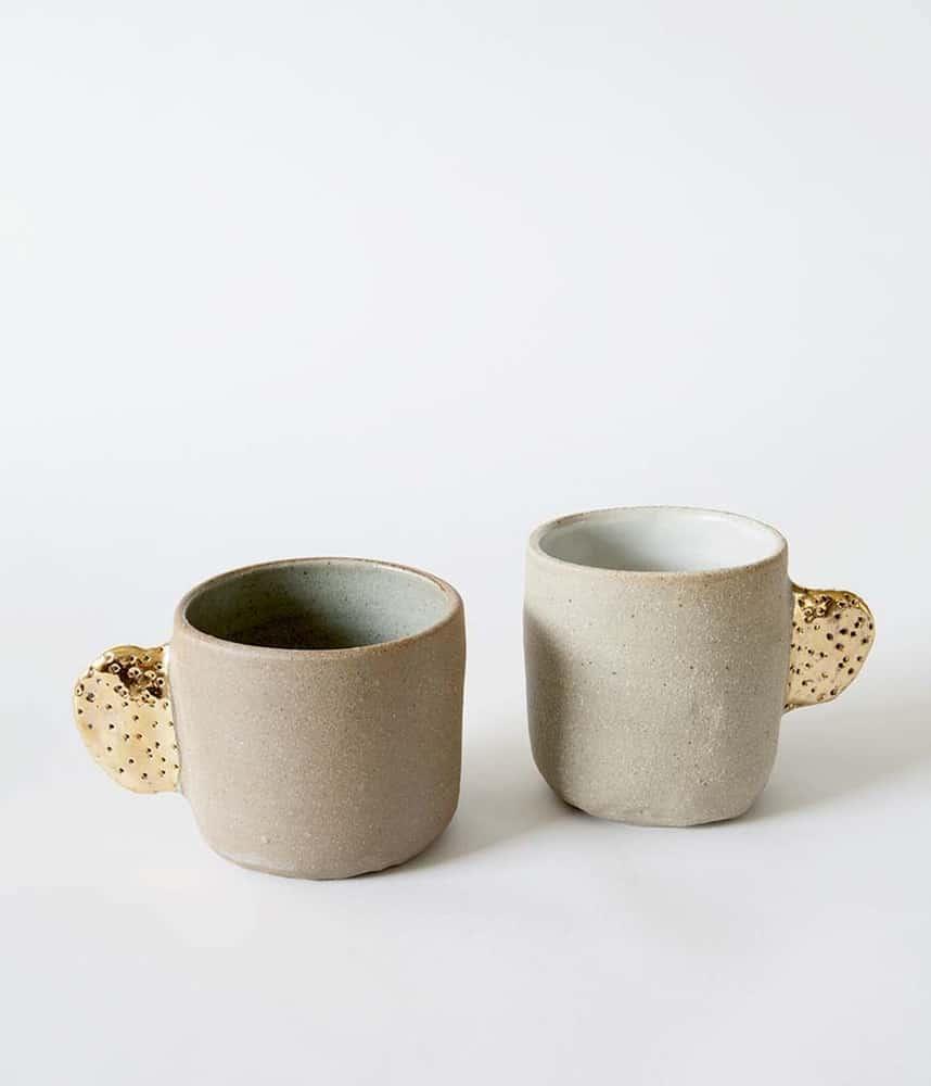 Ceramic mugs by Bridget Bodenham