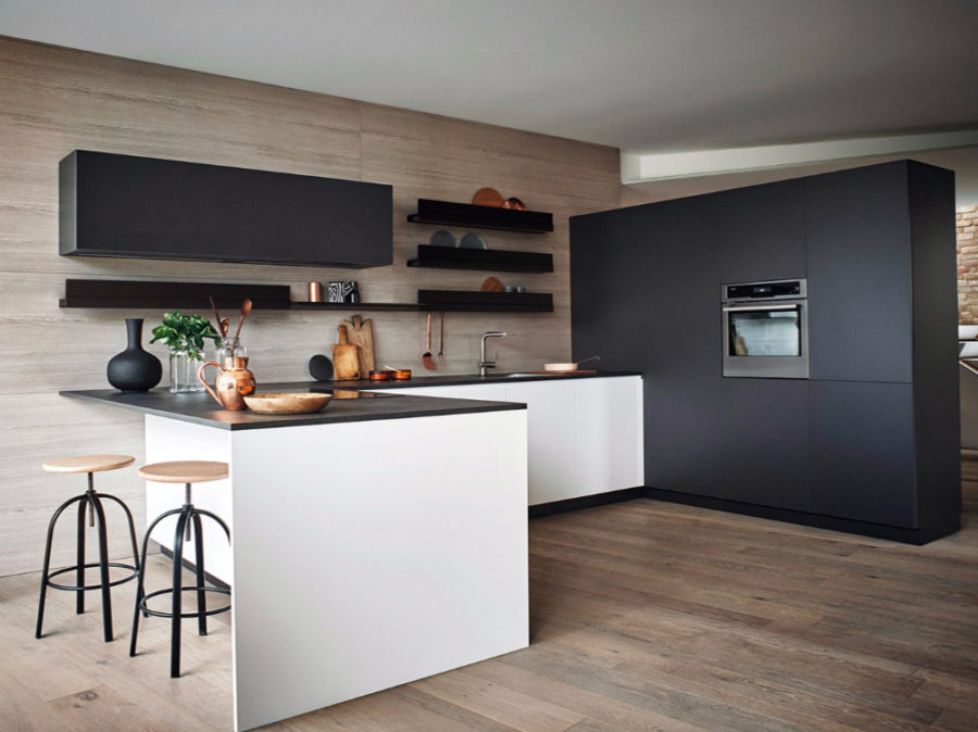 lacquered melamine kitchen from cesar arredamenti