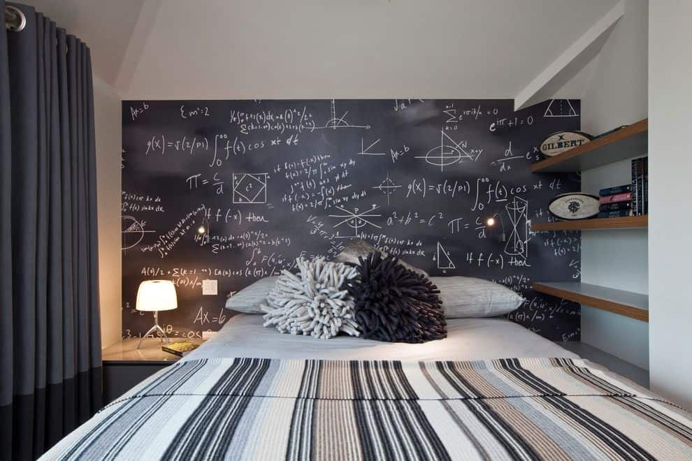Chalkboard wall bedroom design