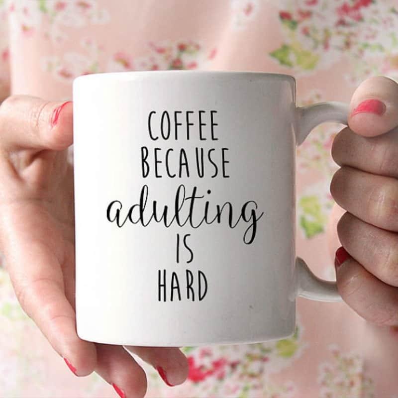 Cold days coffee mug text