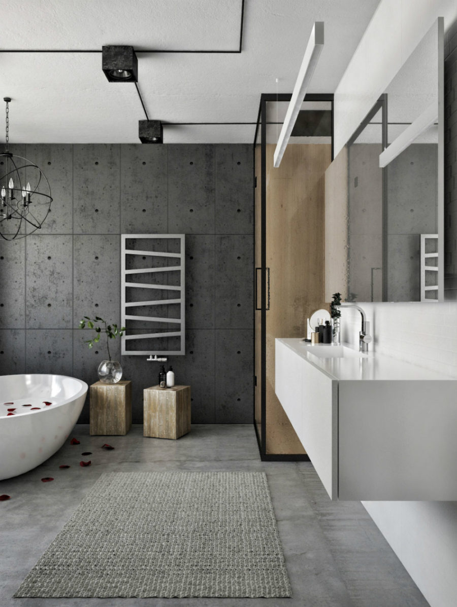 Contemporary cool bathroom