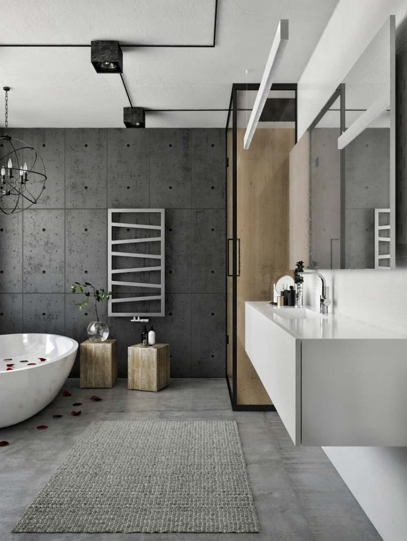 Contemporary cool bathroom