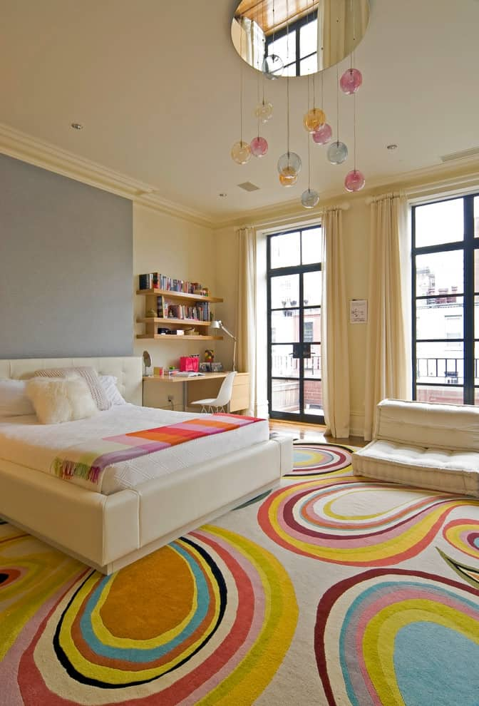 View In Gallery Contemporary Kids Room With Colorful Carpet Modern Bedroom  Designs For Girls