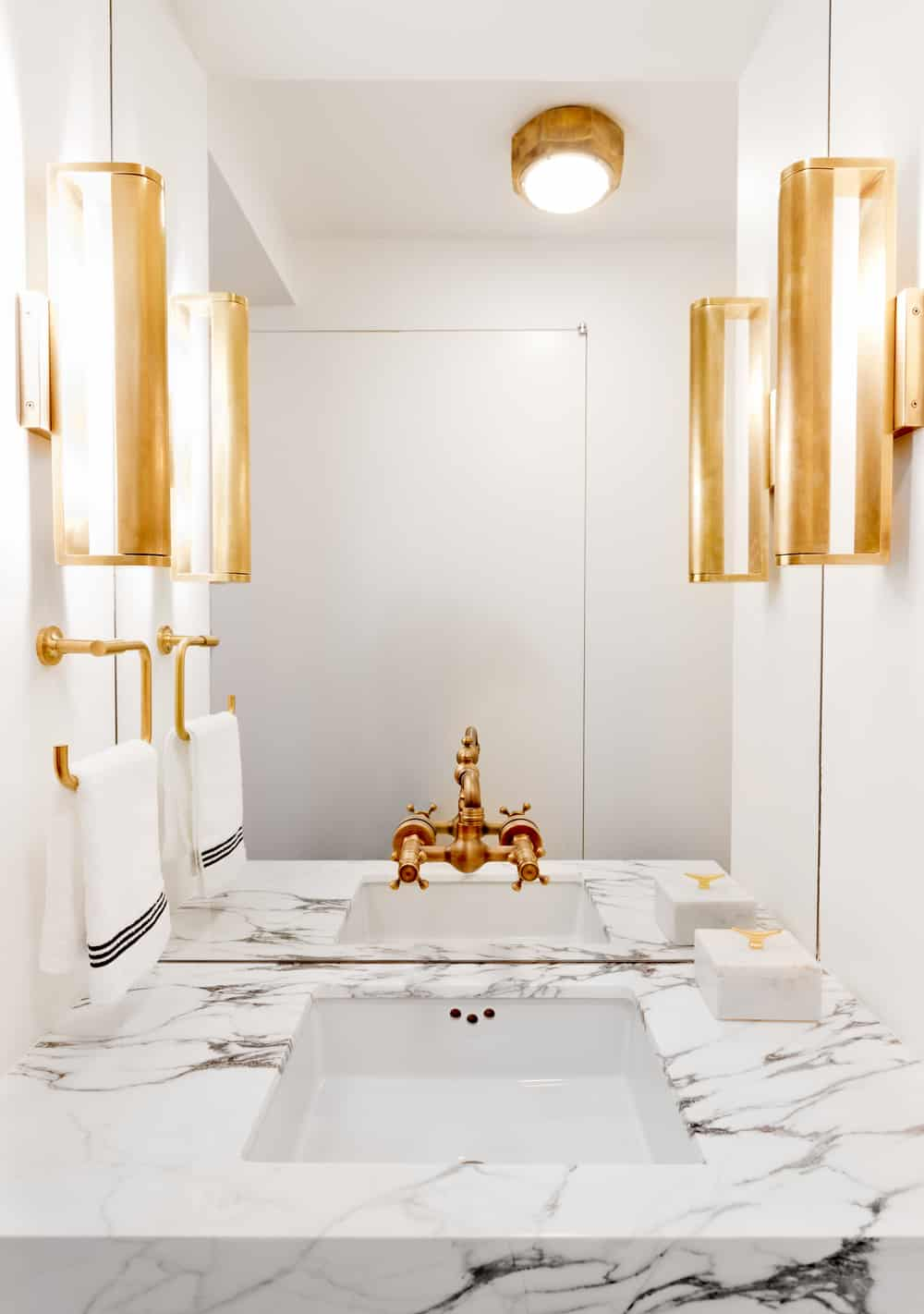 Contemporary sleek powder room
