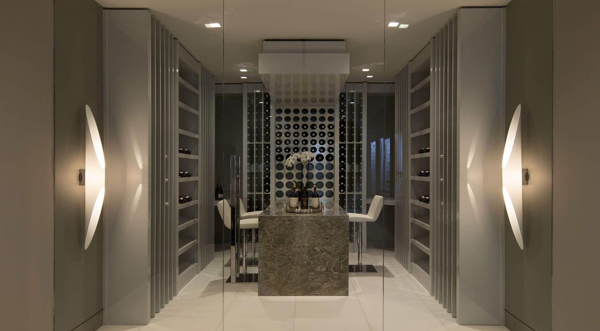 Contemporary wine room