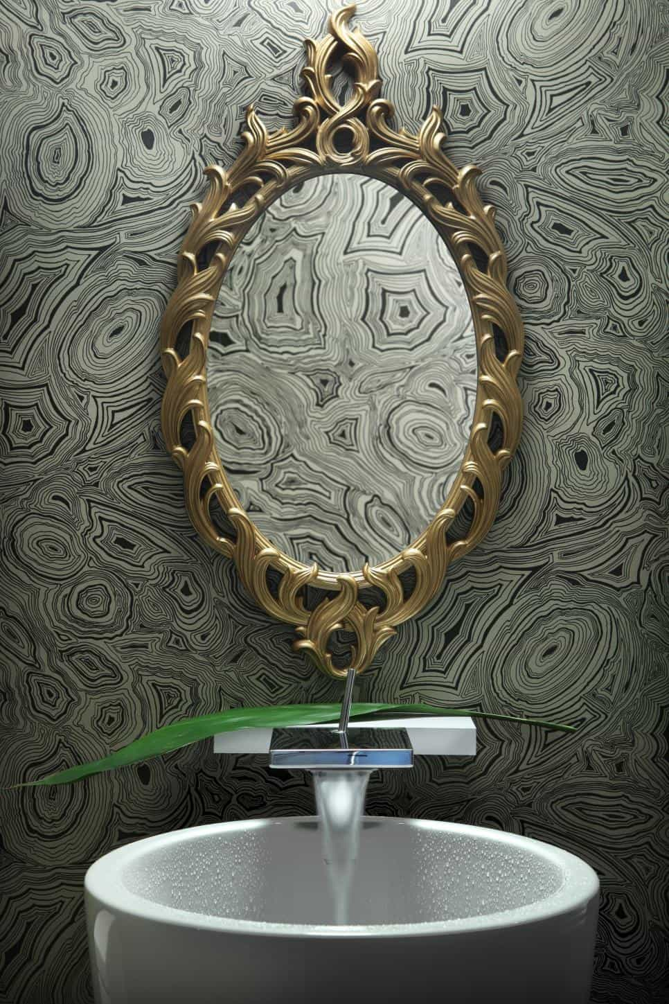 Cool powder room by Cure Design Group