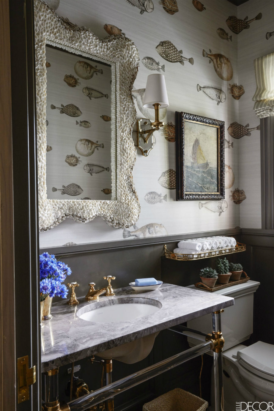 Creative powder room design