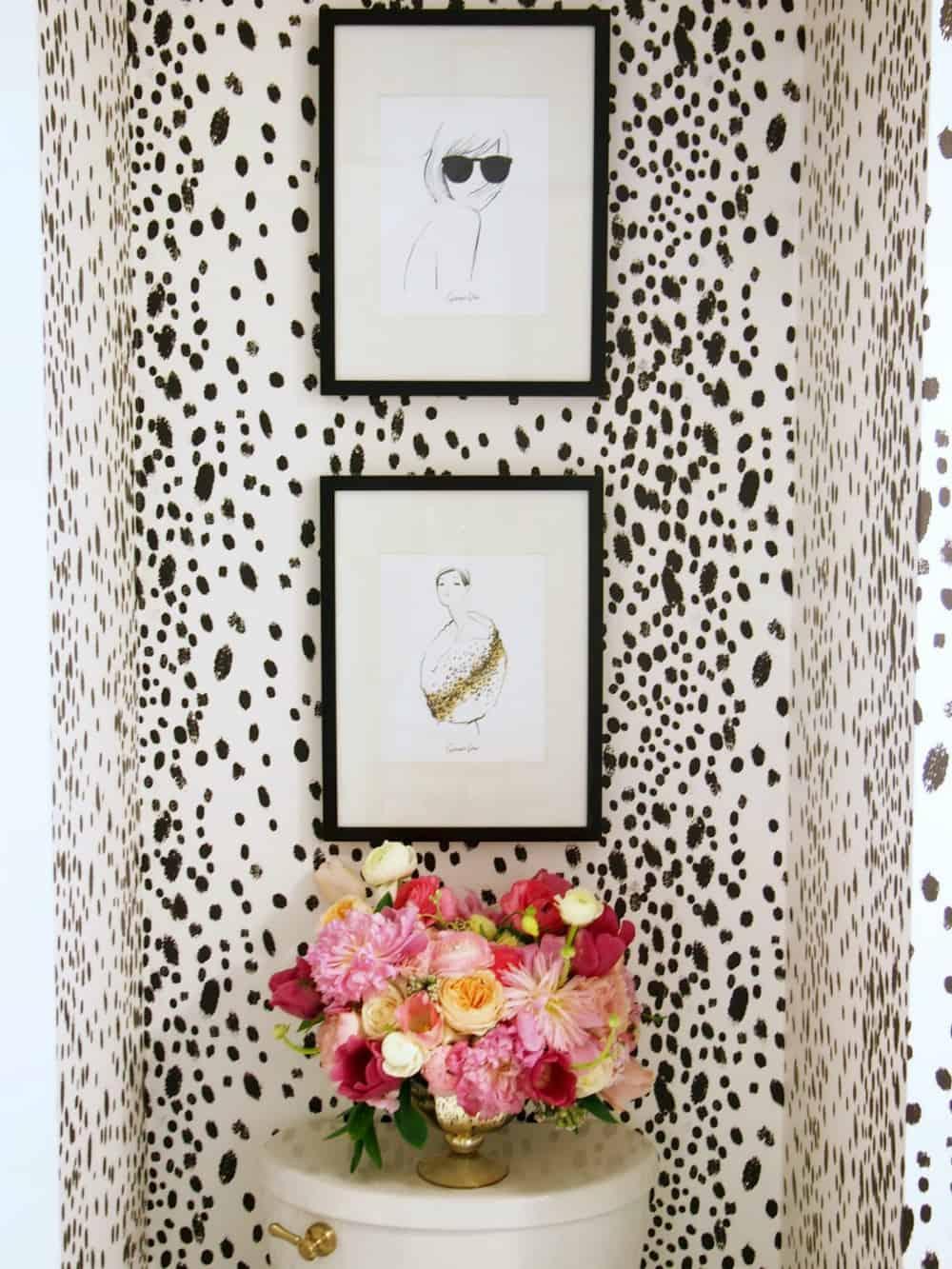 Dalmatian powder room
