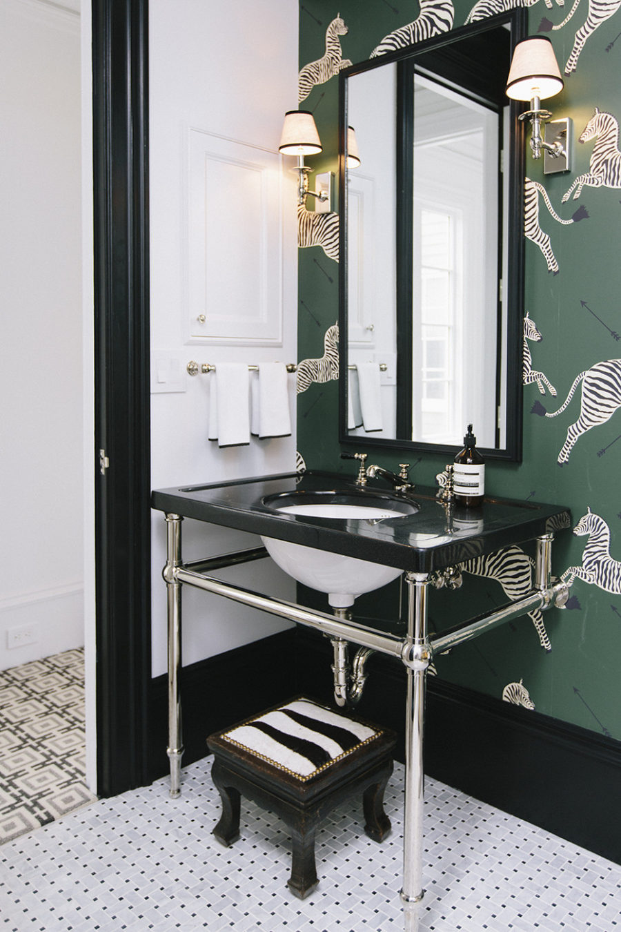 Designer powder room look