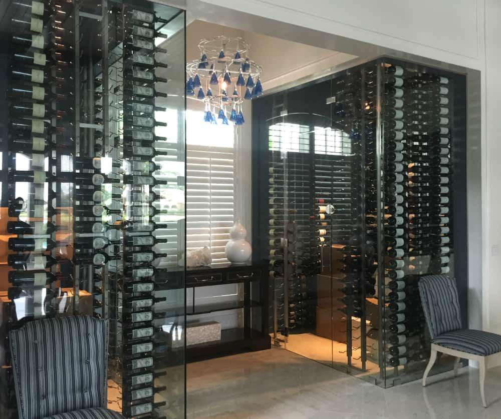 Double glass wine cases