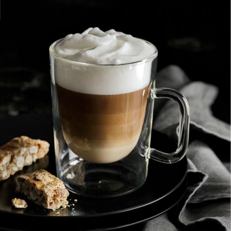 Double walls glass espresso mug