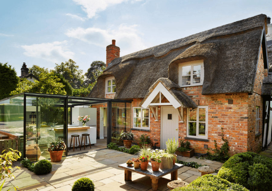 English cottage glass extension