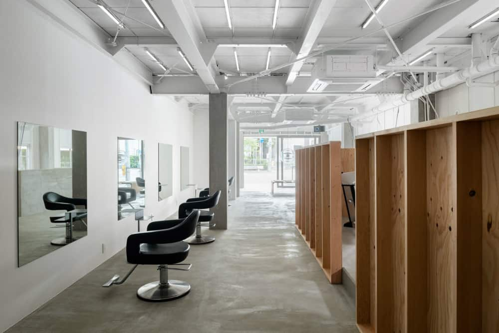 Exposed industrial ceiling