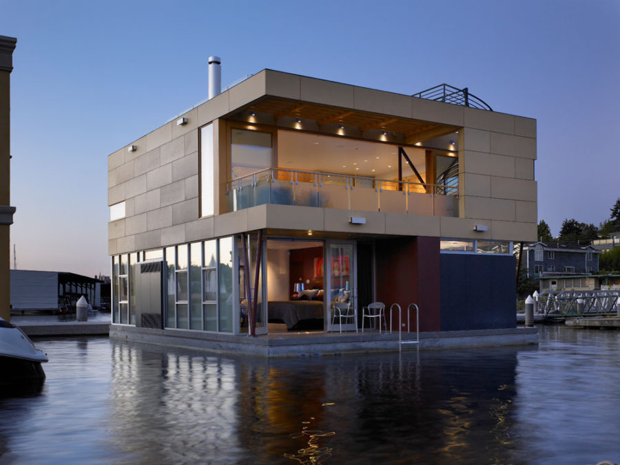Floating Home in Seattle by Vandeventer + Carlander Architects,