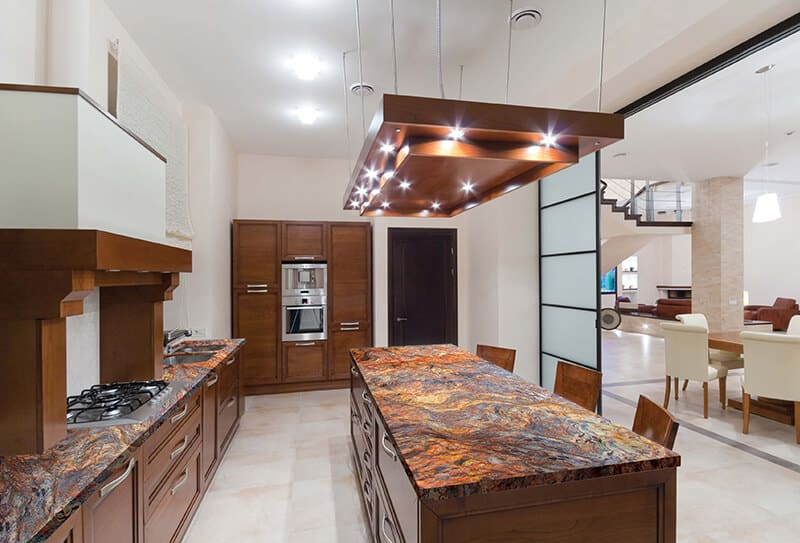 Fusion quartzite kitchen countertop