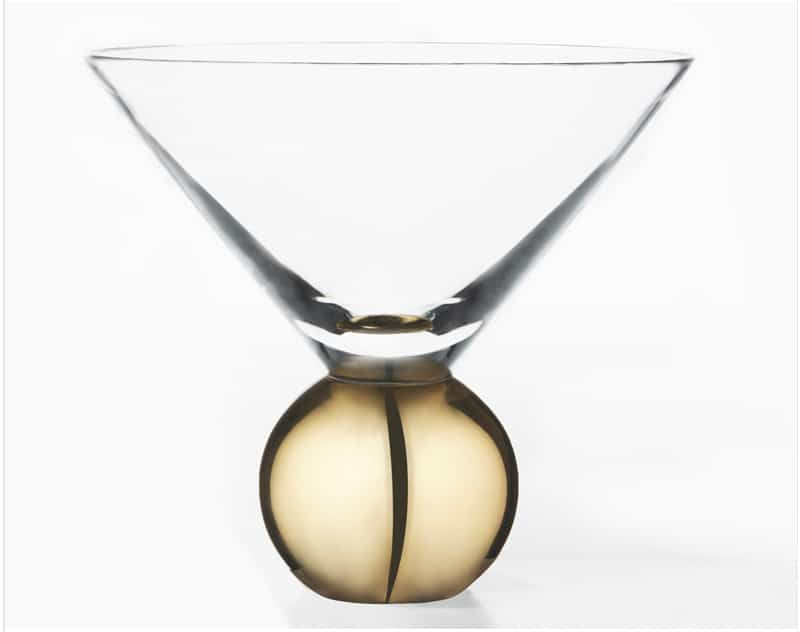 Glass On Brass martini glass