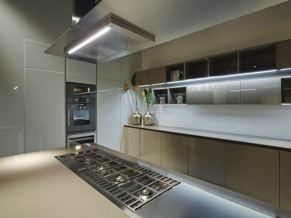 Glossy cabinets