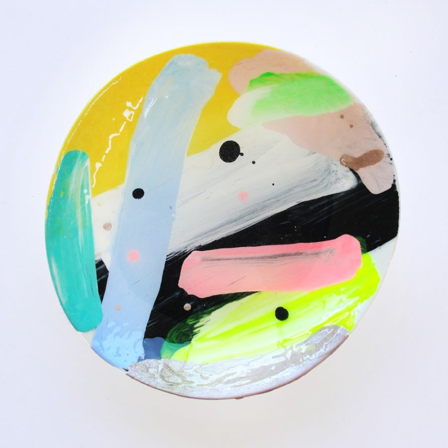 Hand-painted Medium Ceramic Dish by Martinich & Carran