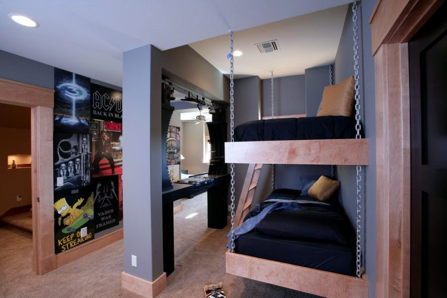 View in gallery Hanging Chairs with Chain 900x600 From Boys to Men: The Best Male Bedroom Designs & From Boys to Men: The Best Male Bedroom Designs