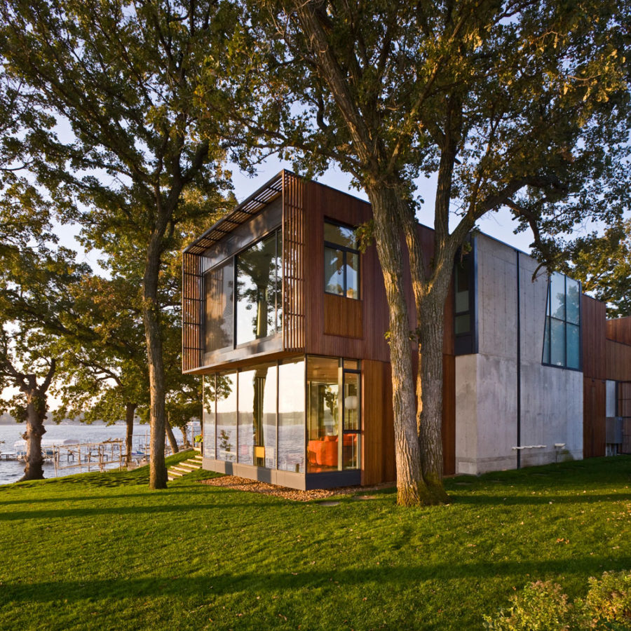 House on Lake Okoboji by Min Day