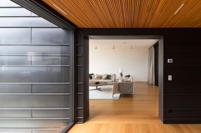 Interiors are cozied up with wooden floors
