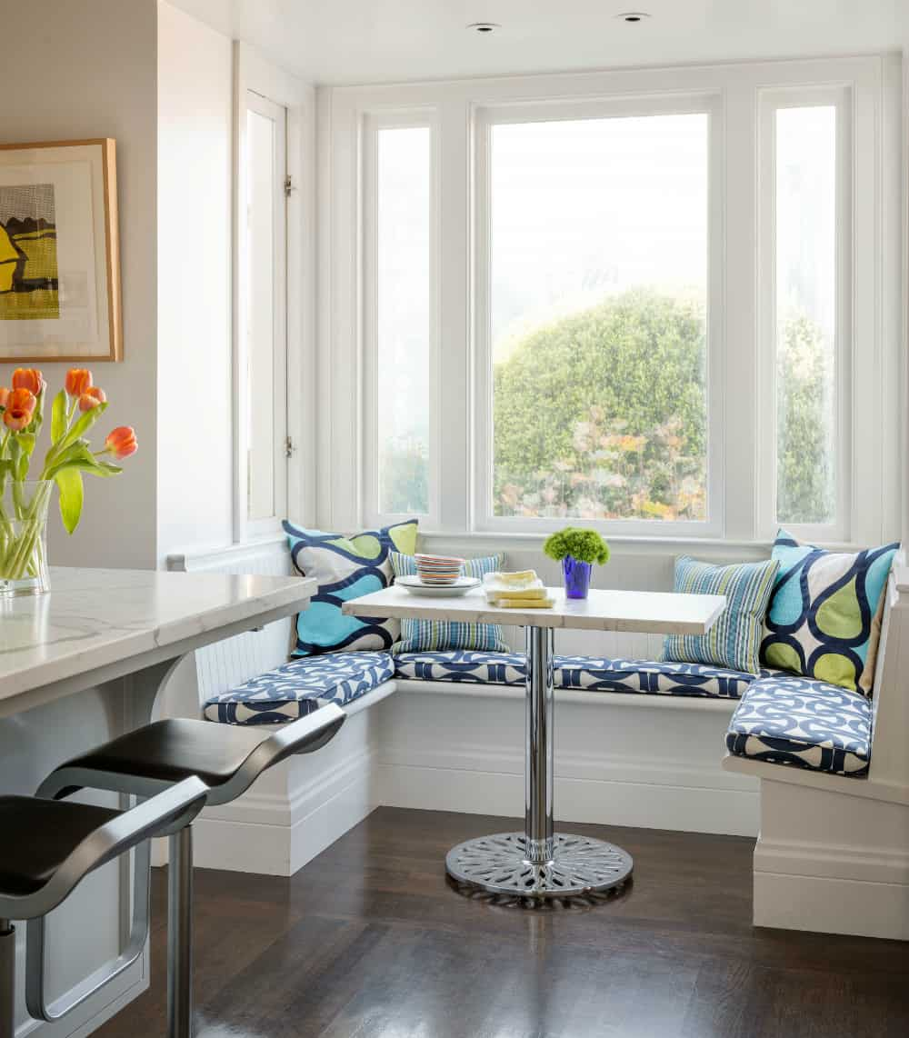Kitchen corner window seat