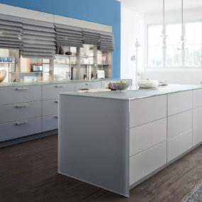 Contemporary Leicht Kitchen Features Cabinet Shutters