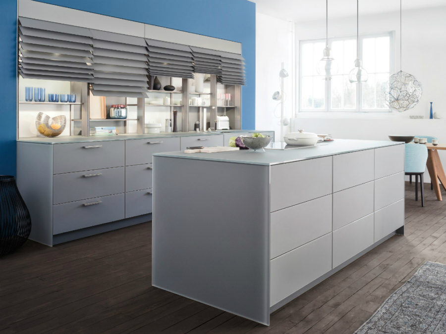 ... Kitchen Island And Cabinets 900x675 Contemporary Leicht Kitchen  Features Cabinet Shutters