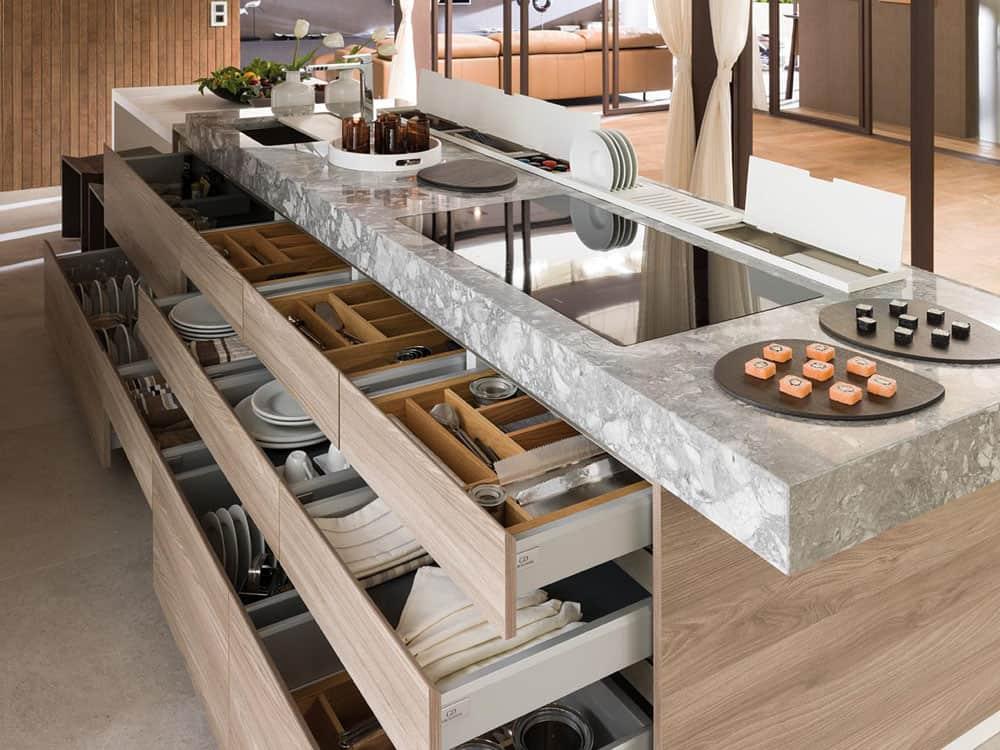 Kitchen island pantry