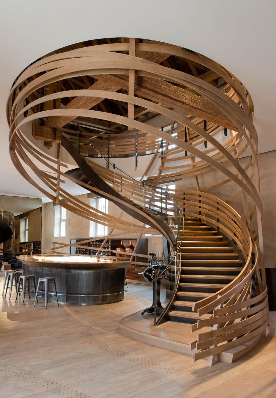 Les Haras brasserie staircase