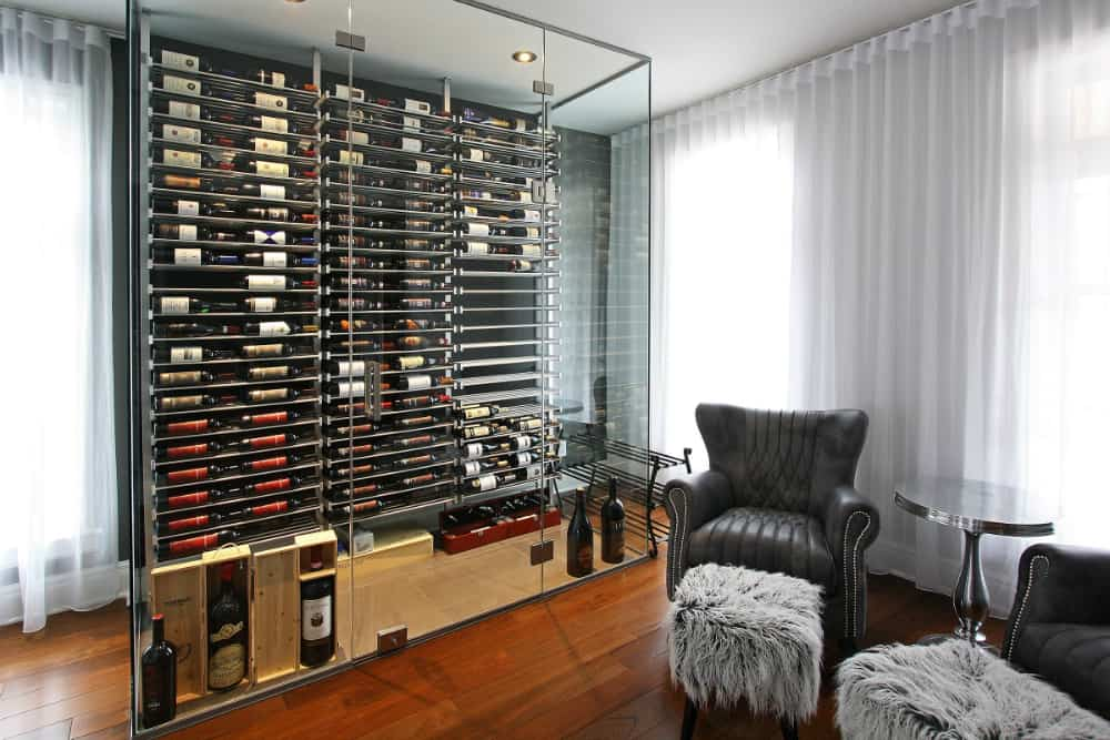 Living room wine case