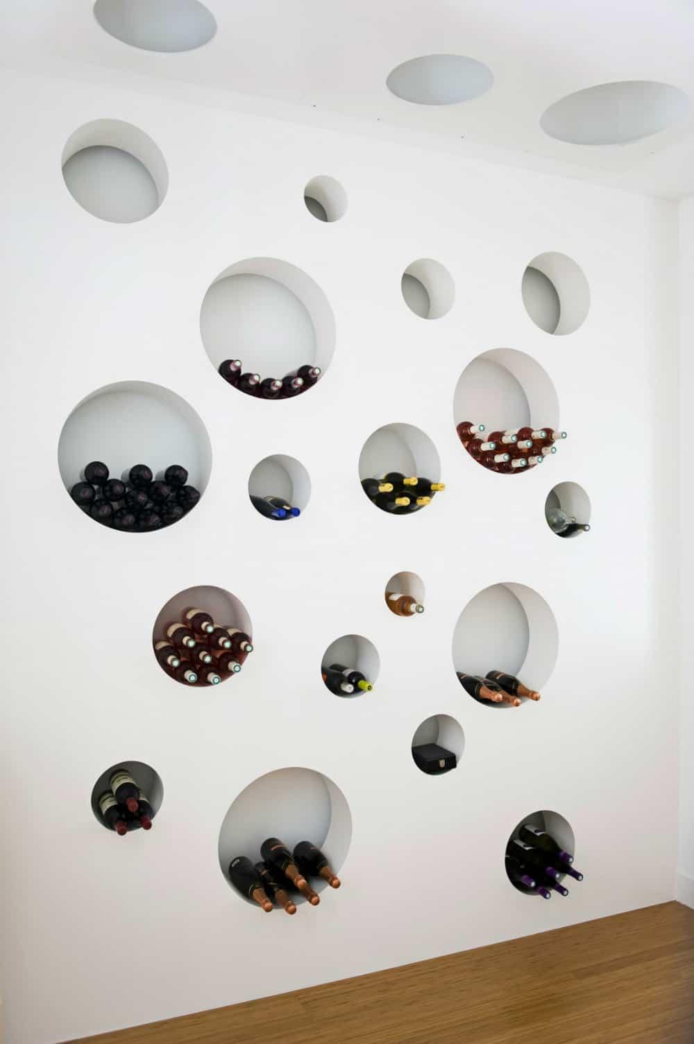 Loft Bordeaux wine cellar wall
