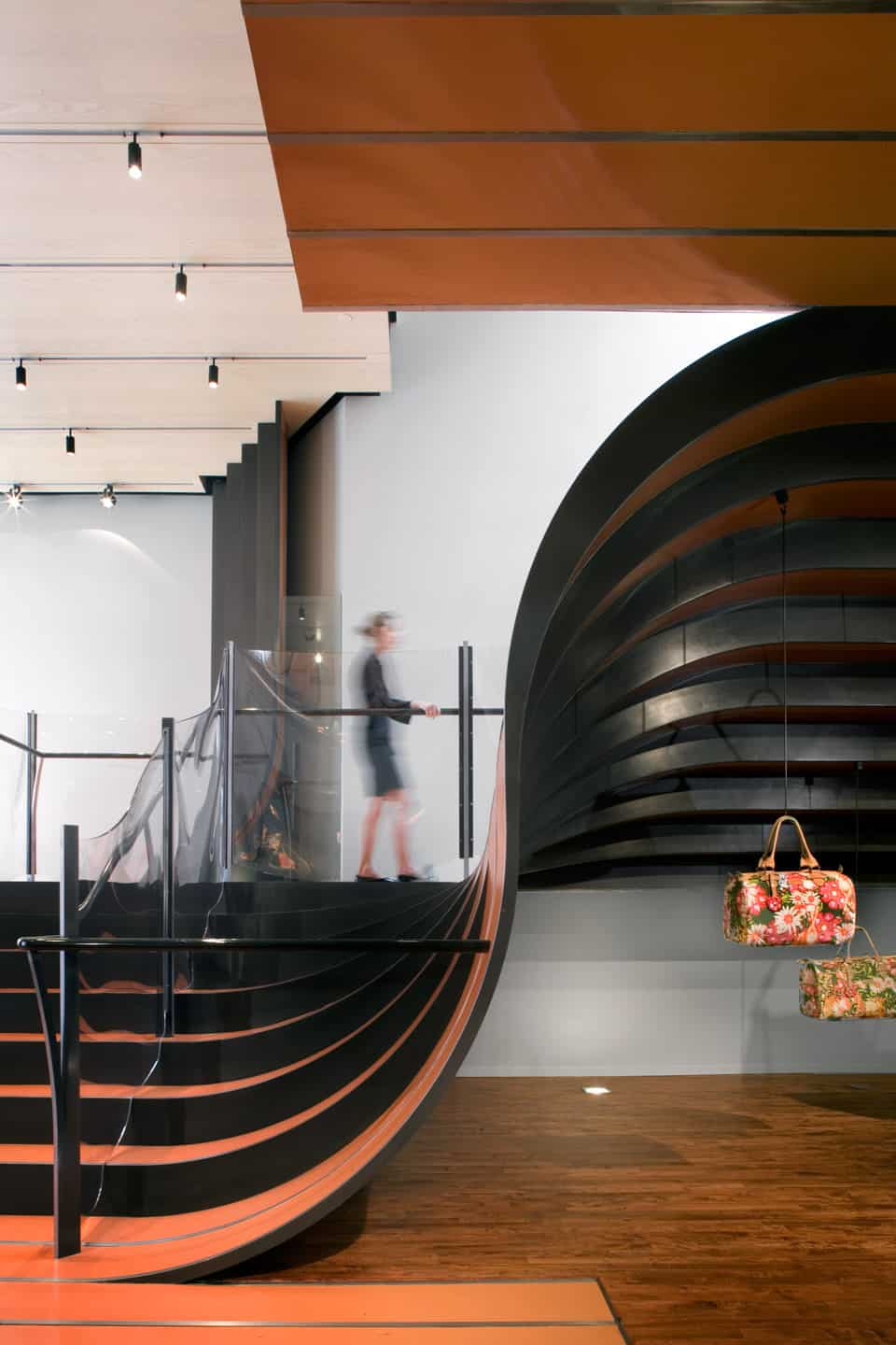 Longchamp store staircase