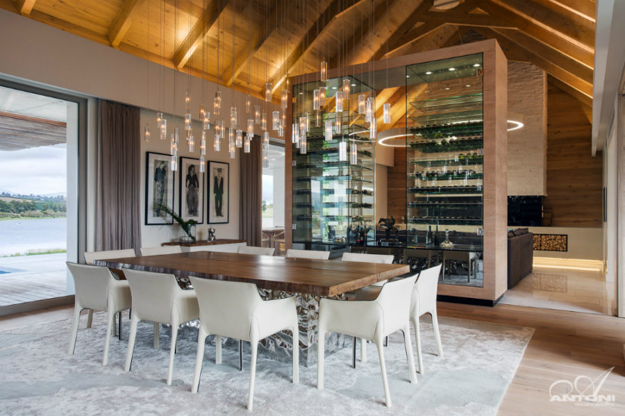 Luxury wine feature wall