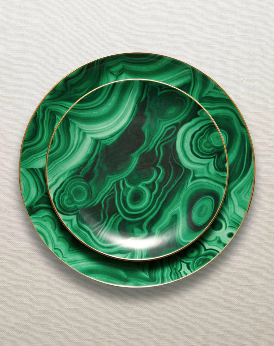 Malachite dinnerware collection
