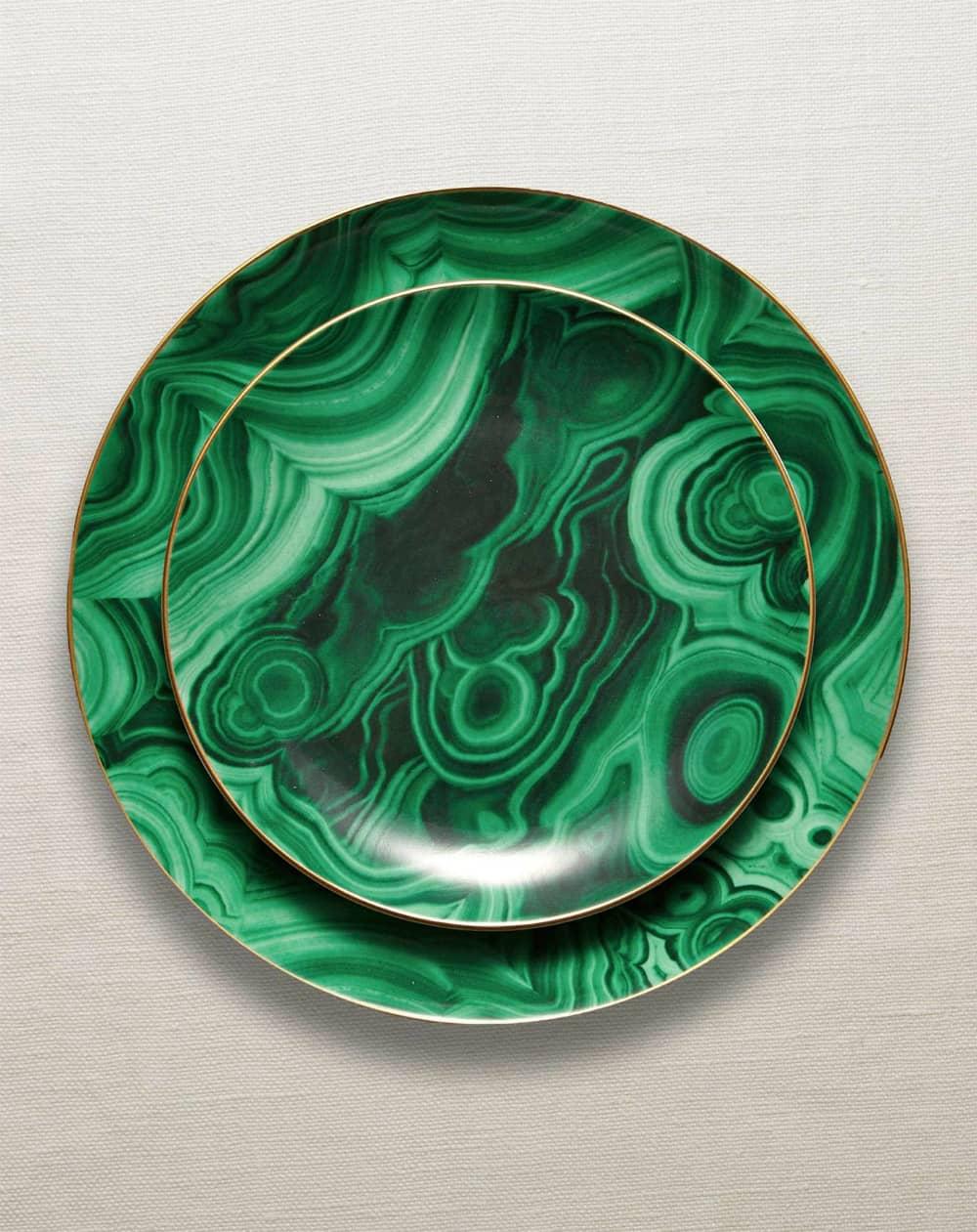 Malachite dinnerware collection