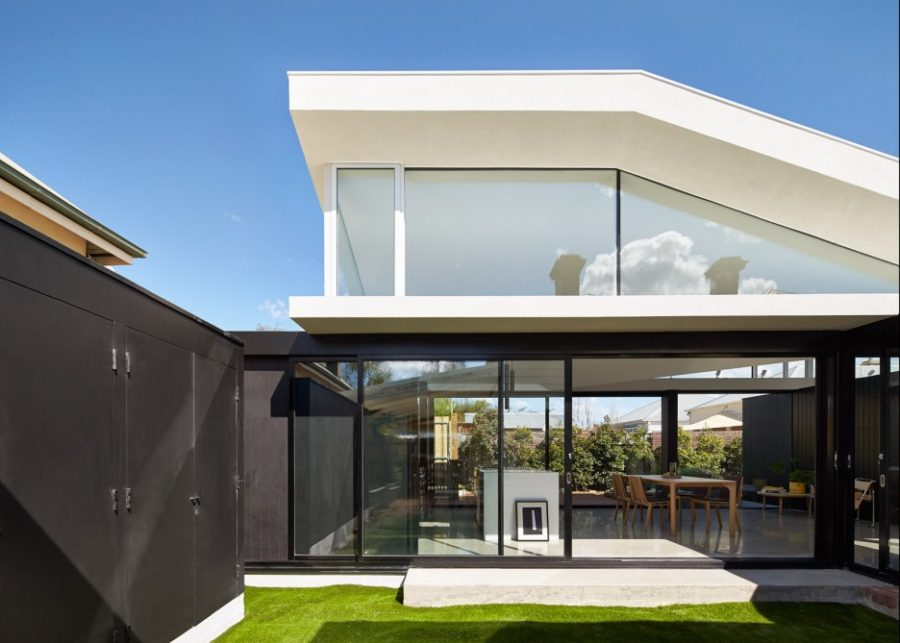 Melbourne house extension yard